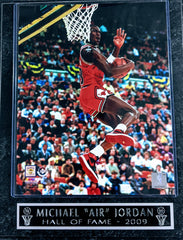 "Michael ""AIR"" Jordan Chicago Bulls ""Hall of Fame 2009"" Wall Plaque"
