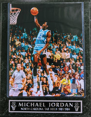 "Michael Jordan North Carolina Tar Heels ""1981-1984"" Wall Plaque"