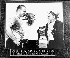 "Chicago Bears Butkus, Sayers, and Halas ""1965 Draft Class Plaque"""