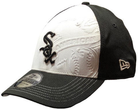 Mens Chicago White Sox Debossed Max 39THIRTY Flex Fit Hat By New Era
