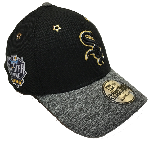 Men's Chicago White Sox New Era Black 2016 MLB All-Star Game Patch 39THIRTY Flex Fit Hat