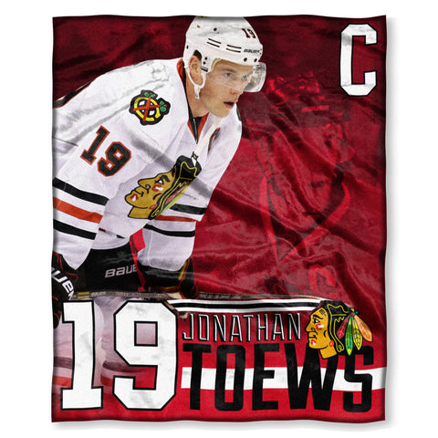 Chicago Blackhawks Jonathan Toews Throw Blanket - Pro Jersey Sports