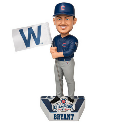Chicago Cubs Kris Bryant 2016 World Series Champions Fly the W Flag Bobblehead