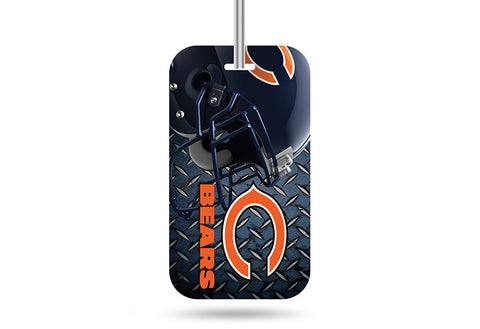 Chicago Bears Navy/Orange Crystal View Rico Team Luggage Tag