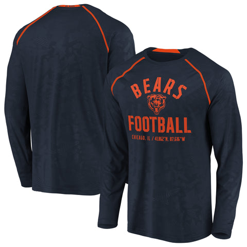 Men's Chicago Bears Team Destination Long Sleeve Fanatics Performance Tee