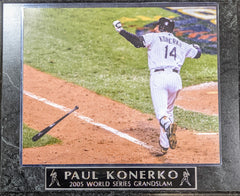 Paul Konerko 2005 World Series Grand Slam Chicago White Sox Wall Plaque