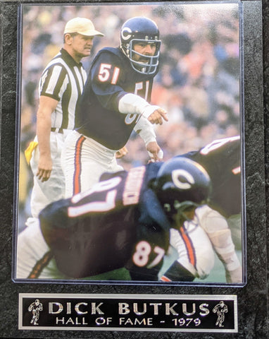 Dick Butkus Chicago Bears Hall Of Fame 1979 Hall Of Fame Wall Plaque
