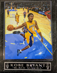 "Kobe Bryant Los Angeles Lakers #8 ""Black Mamba"" Wall Plaque"