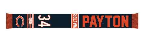 Chicago Bears Walter Payton #34 Retired Player Acrylic Scarf, Team Color-Forever Collectibles