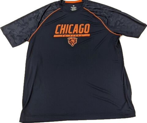 Men's Chicago Bears Mission Slant Navy Performance Tee