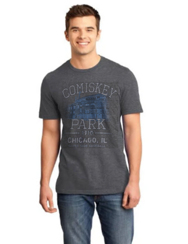 Mens Comiskey Park 35th and Shields Heather Charcoal Tri Blend Tee By Beantown Brand