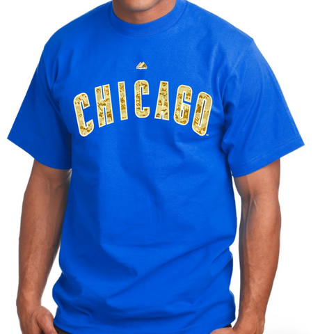 Men's Chicago Cubs Desert Camo Wordmark Tee