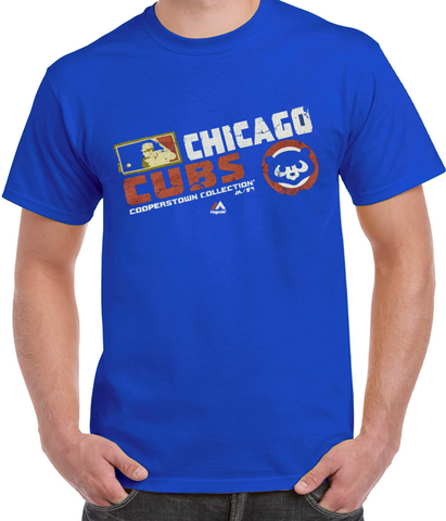 Men's Chicago Cubs Cooperstown Collection Royal Team Choice T-Shirt