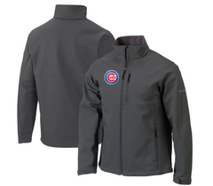 Men's Chicago Cubs Columbia Gray Ascender 2 Full Zip Jacket