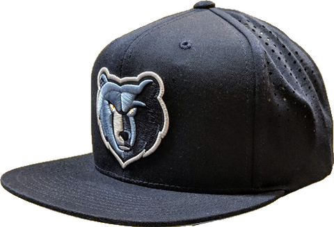 Mens NBA Memphis Grizzlies Perforated Fade Snapback Hat By Mitchell And Ness