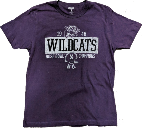 Tailgate Men's Northwestern Wildcats 1948 Rose Bowl Champions Purple T-Shirt