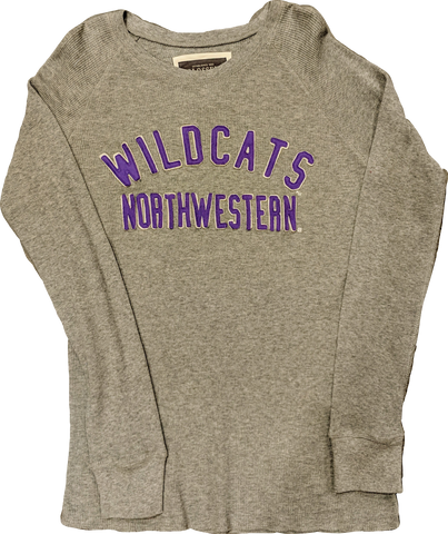 Men's NCAA Northwestern Wildcats Arch Thermal Long Sleeve Tee By Colosseum