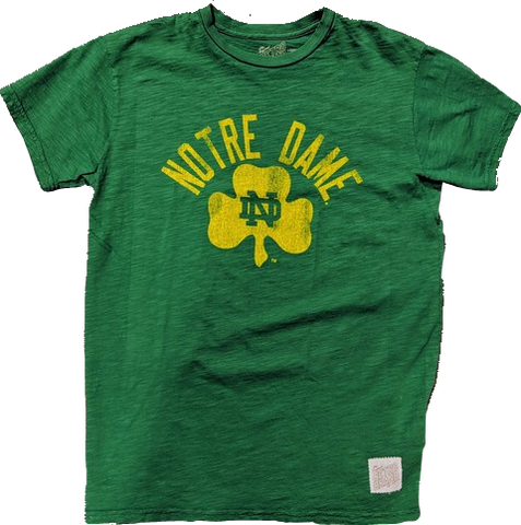 Men's NCAA Notre Dame Fighting Irish Washed Out Slub Tee By Retro Brand