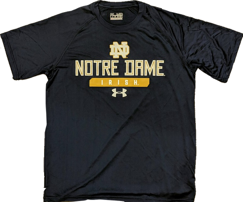 NCAA Notre Dame Fighting Irish Men's Under Armour Short Sleeve Performance NuTech Tee