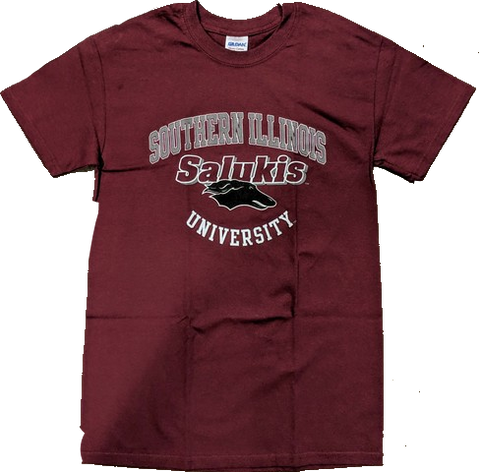 Mens Southern Illinois Salukis Maroon Campus One T-Shirt