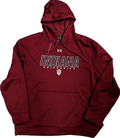 Men's Indiana Hoosiers Under Armour Armourfleece 2.0 Crimson Hoodie