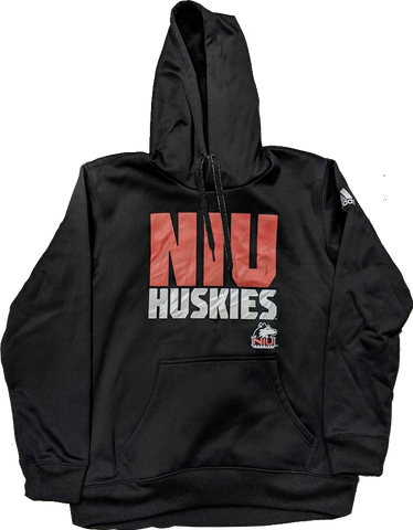 Men's NCAA Northern Illinois Huskies Adidas Black Tech Fleece Hoodie