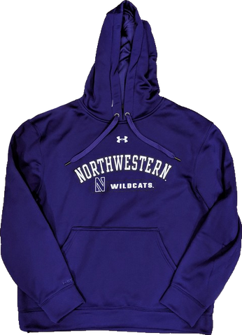 Men's Northwestern Wildcats Under Armour Armourfleece 2.0 Purple Hoodie