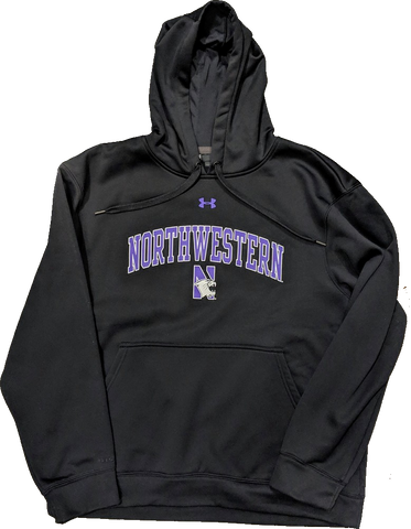 Men's Northwestern Wildcats Under Armour Armourfleece Black Hoodie