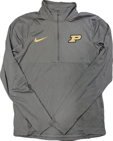 Nike Men's Purdue Boilermakers Gray Core Half-Zip Shirt
