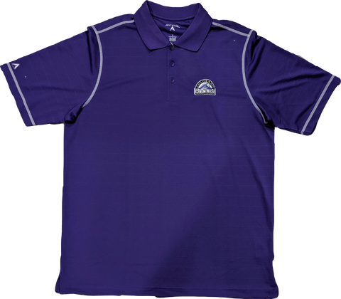 Antigua Men's Colorado Rockies Purple Icon Performance Polo