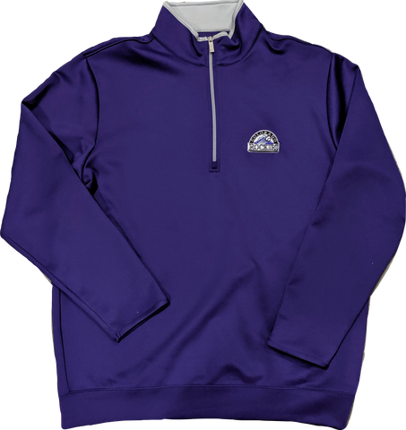 Antigua Men's Colorado Rockies Leader Purple Quarter-Zip Pullover
