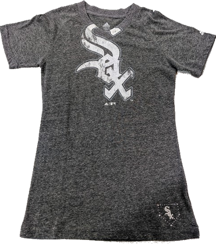 Youth Girls Chicago White Sox Tri-Blend Big Logo Tee