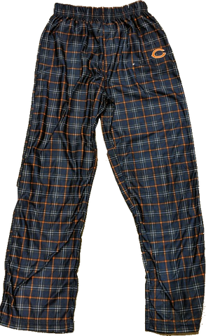 Chicago Bears Youth Flannel Print Pajama Pants - Navy Blue