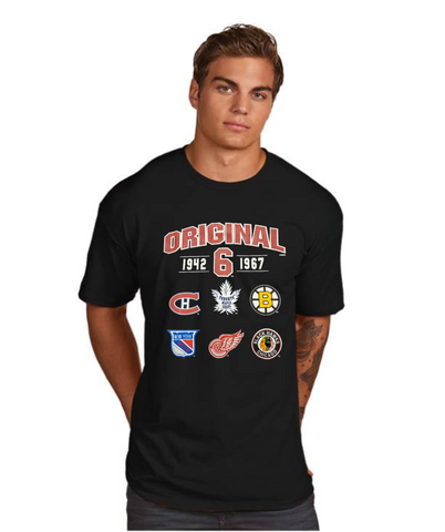 Men's NHL Original 6 Black Superior Tee