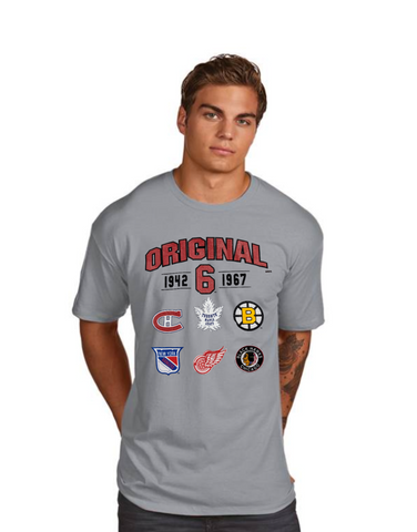 Men's NHL Original 6 Gray Superior Tee