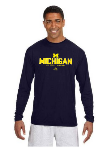 adidas Michigan Wolverines Ann Arbor Collegiate Ultimate Crew Adult Shirt