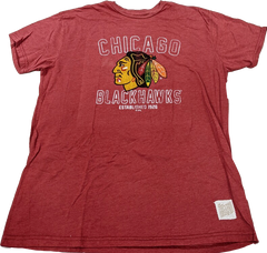 Chicago Blackhawks Red Retro Brand Established 1926 Tee