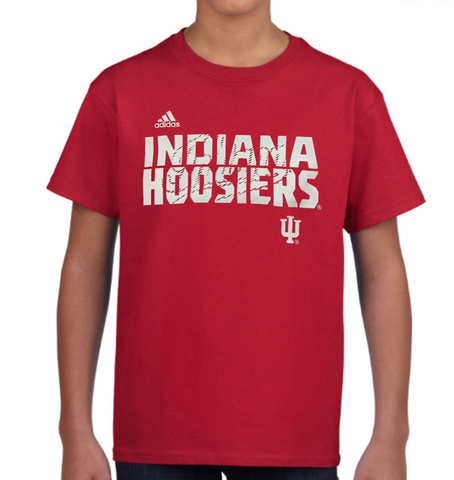 Youth Indiana Hoosiers adidas Red Sideline Tee