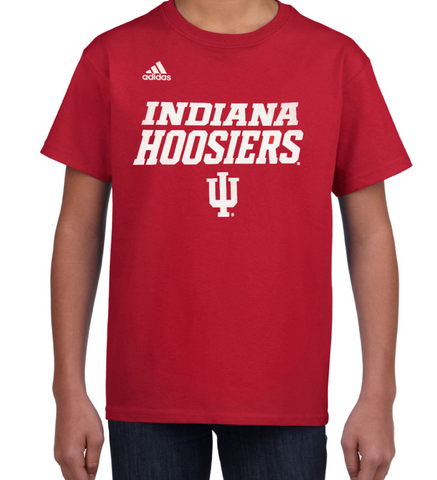 Youth Indiana Hoosiers adidas Red Official Sideline Tee