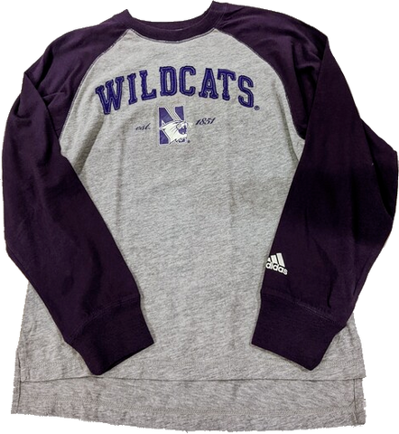Northwestern Wildcats Adidas Youth Established Long Sleeve Shirt