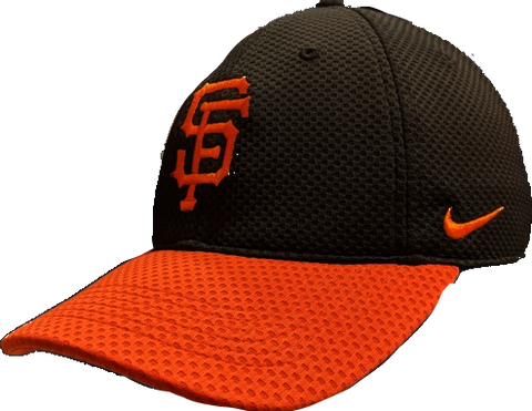 Mens San Francisco Giants Nike Black/Orange Mesh Logo Performance Adjustable Hat