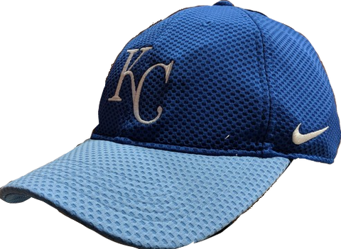 Men's Kansas City Royals Nike Blue Mesh Logo Performance Adjustable Hat