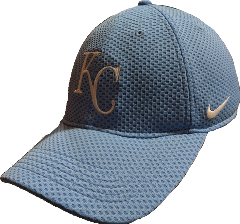 Men's Kansas City Royals Nike Powder Blue Blue Mesh Logo Performance Adjustable Hat
