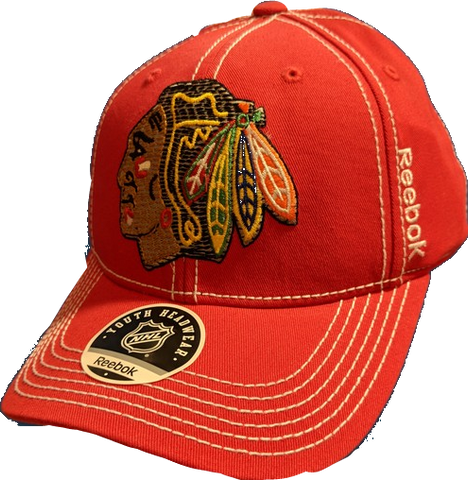Youth NHL Chicago Blackhawks Red Second Season Spin Adjustable Hat By Reebok