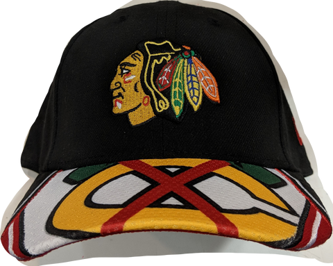 Toddler Chicago Blackhawks Visor Dub 9FORTY Adjustable Hat