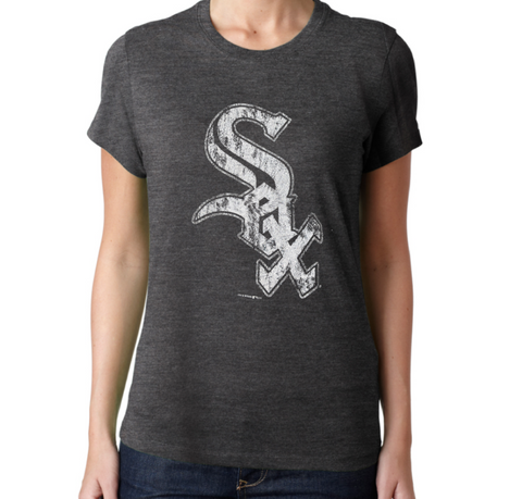 Women's Chicago White Sox Faded Gray Big Logo Tee