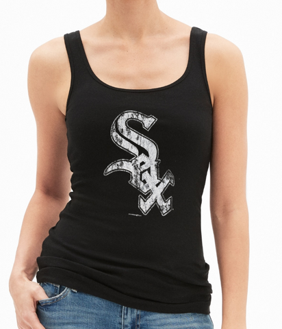 Womens Chicago White Sox Tank Big Logo Fade