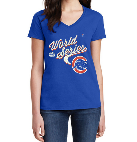 Women's Chicago Cubs 2016 World Series Never Lose Sight Tee