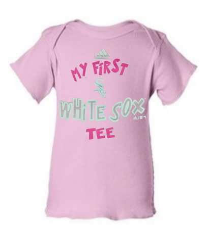 "Infant Girls Chicago White Sox adidas Pink ""My First White Sox Tee"""