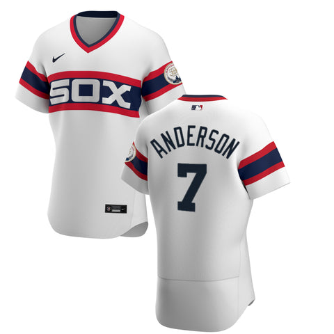 Men's Chicago White Sox Tim Anderson Nike White Alternate Authentic Player Jersey